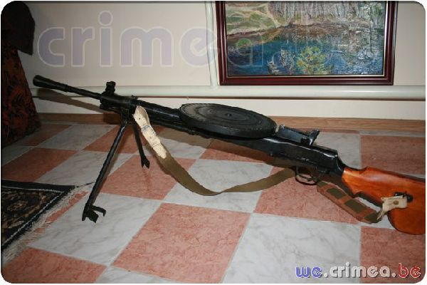Музей - РПД ручной пулемет Дегтярева.